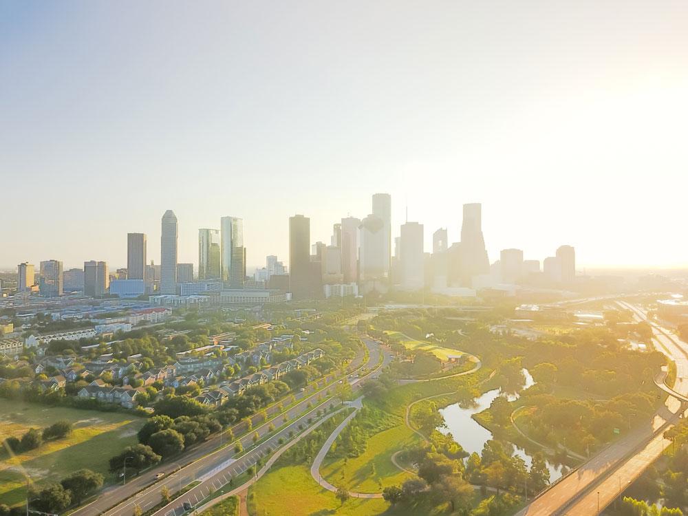 Aerial photo of downtown Houston